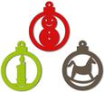 Christmas Baubles Ornaments and Tags Set 2