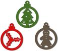 Christmas Baubles Ornaments and Tags Set 3