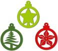 Christmas Baubles Ornaments and Tags Set 4