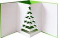 Pop Out Christmas Tree Card SVG, DXF, PDF Files