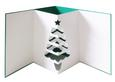 3D Pop Out Christmas Tree Card SVG, DXF, PDF Files