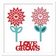 Love Grows & Layered Cut Out Flowers SVG, DXF, PDF Format