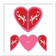 Gatefold Shaped Heart Card with Flourish SVG, PDF and DXF