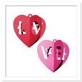 3D Hanging Hearts Decor Ornaments SVG, PDF, DXF Files