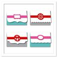 Artisan Cards Set with Decorative Bands SVG, DXF, PDF Files