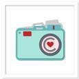 Camera Shaped Card SVG, DXF, PDF Files