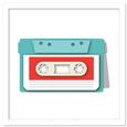Vintage Cassette Tape Shaped Card SVG, DXF, PDF