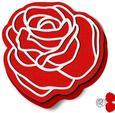 Rose Shape Card Template