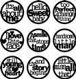 Black Phrases Words Art Circles Digital Embellishments