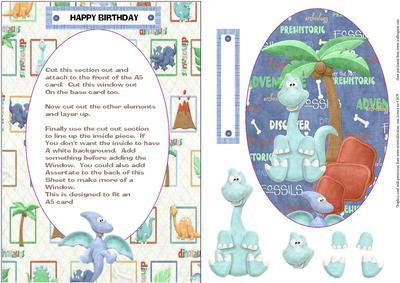 Dinosaur Window Card Topper