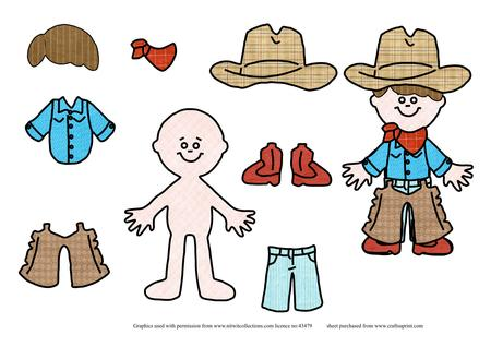 Paper Doll Cowboy Craft Ideas For Kids