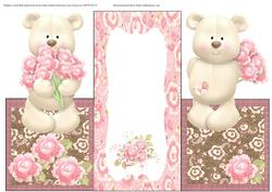 Teddy Tri Fold Over the Edge Card