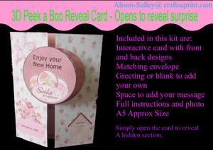 Gatefold Peekaboo New Home Card Kit