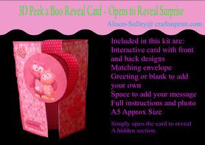 Gatefold Peekaboo Owl Card Kit