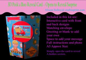 Gatefold Peekaboo Construction Card Kit