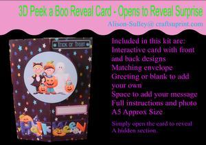 Gatefold Peekaboo Trick or Treat Card Kit