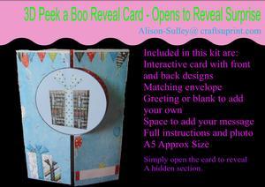 Gatefold Peekaboo Birthday Celebrations Card Kit