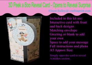 Gatefold Peekaboo Pirate Card Kit