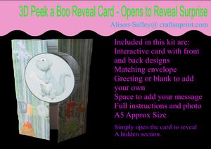 Gatefold Peekaboo Dinosaur Card Kit