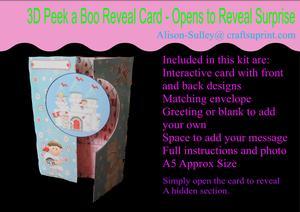 Gatefold Peekaboo Sir Nitwit Card Kit