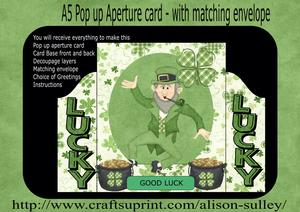 Irish Luck 3D Pop Out Push & Pull Card Kit