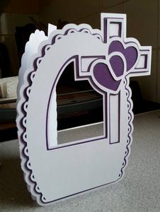 Heart Cross Arched Card SVG