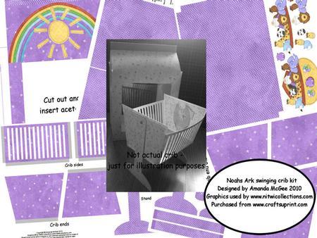 Noahs Ark Swinging Crib with Gift Bag