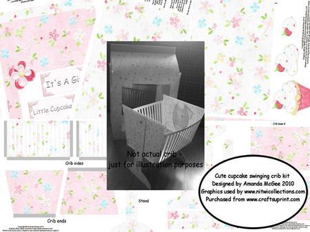 Cute Cupcake Swinging Crib and Gift Bag