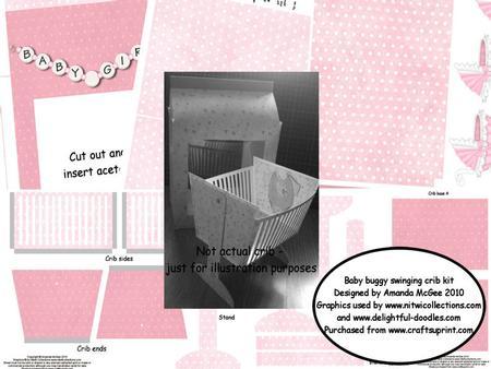 Baby Buggy Swinging Crib with Gift Bag