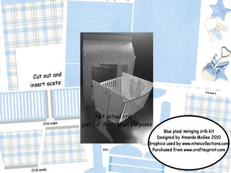 Blue Plaid Swinging Crib and Gift Bag