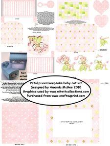 Petal Pixie Keepsake Cot Kit with Giftbag