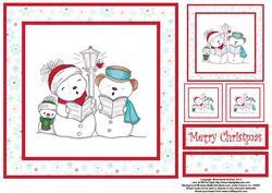 Merry Snowmen 8x8 Topper Sheet