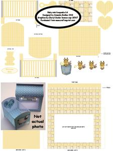 New Baby Keepsake Mini Cot Kit with Gift Bag