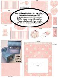 New Baby Girl Keepsake Mini Cot Kit W Gift Box-pretty Floral