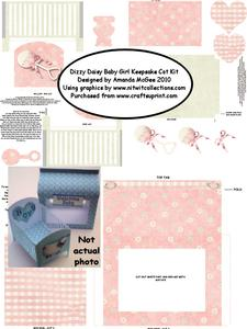 Dizzy Daisy Baby Girl Keepsake Cot Kit with Gift Bag