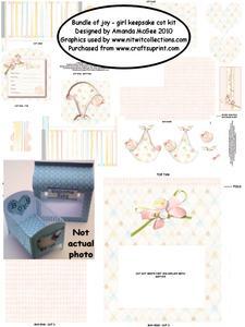 Bundle of Joy - Girl Keepsake Cot Kit with Gift Bag
