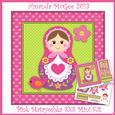 Pink Matryoshka 8x8 Mini Card Kit