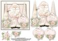 Pink Santa 6x6 Card Front with Decoupage