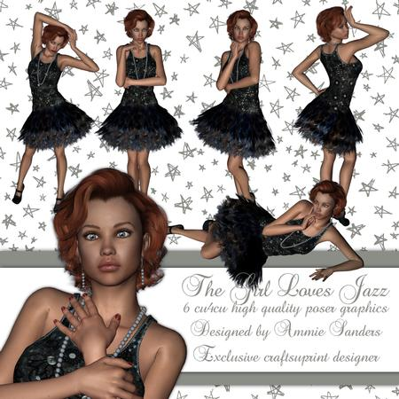 The Girl Loves Jazz High Quality Png Format Graphics