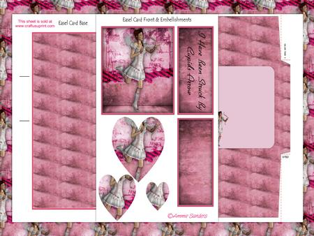 Pretty in Pink Cupid Easel Card Kit