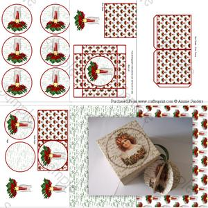 Christmas Candle 3D Bauble & Gift Box Kit