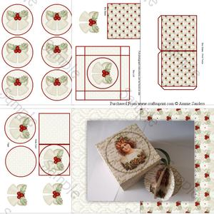 Christmas Bells with Holly 3D Bauble & Gift Box Kit