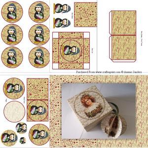 Christmas Penguin 3D Bauble & Gift Box Kit