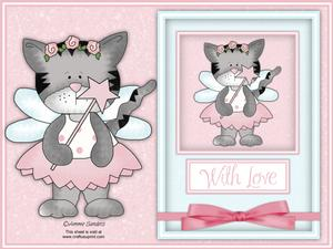 Fairy Princess Kitty A4 Card Kit