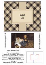 Get Well Soon Swing Card