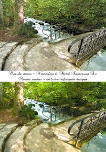 Over the Stream Art Impression Watercolour & Sketch Digital