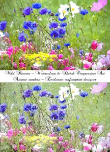 Wild Flowers Art Impression Watercolour & Sketch Digital Art