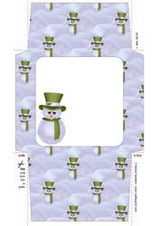 Christmas Snowman 5x5 Envelope