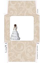 Beautiful Blushing Bride 5x5 Envelope