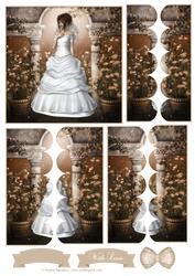 Beautiful Blushing Bride Scallop Side Stacker